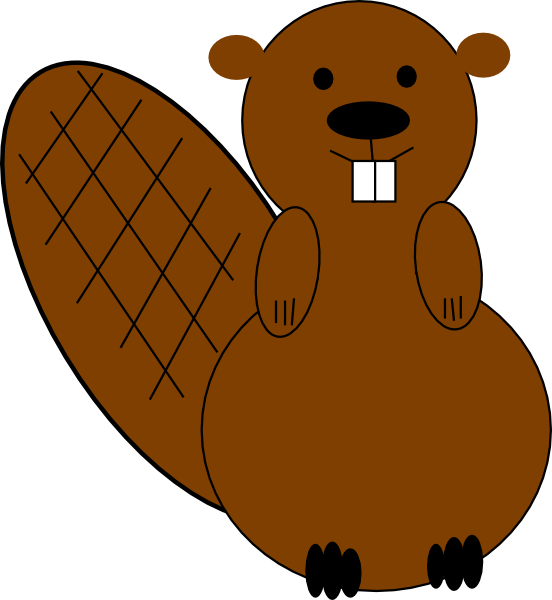 Groundhog clipart vector. Beaver clip art at