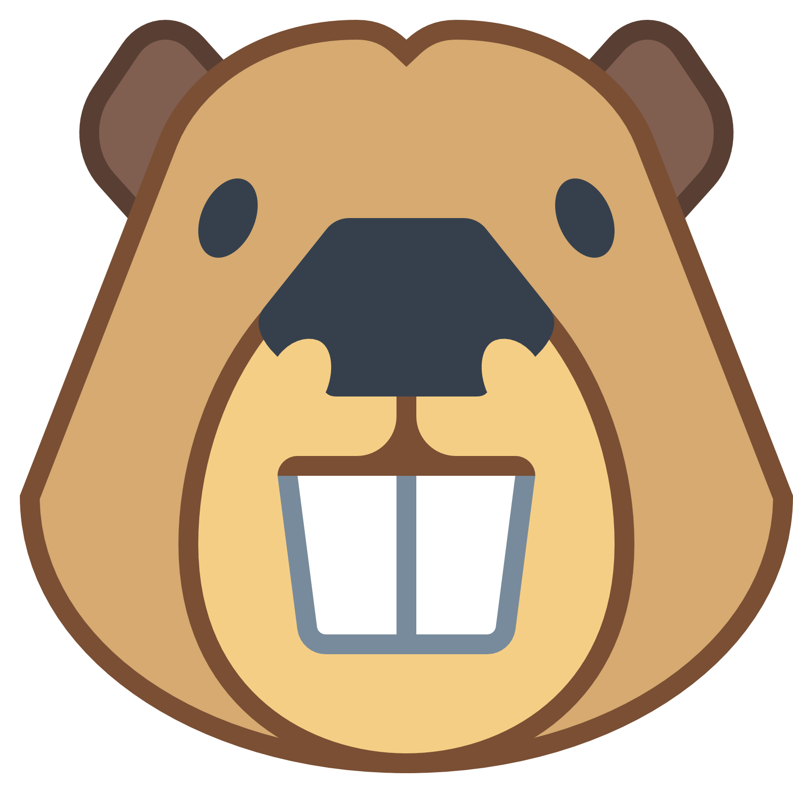 Face clipart beaver. Icon web icons png