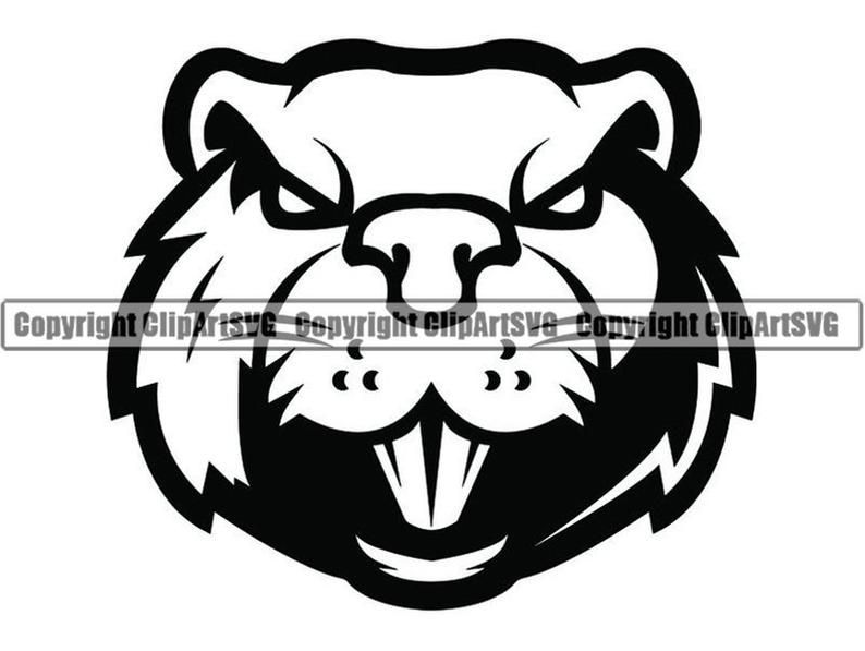 A face animal angry. Beaver clipart head
