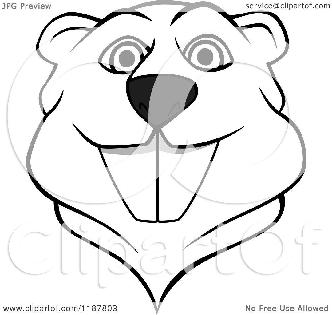 Beaver clipart head. Silhouette clip art at