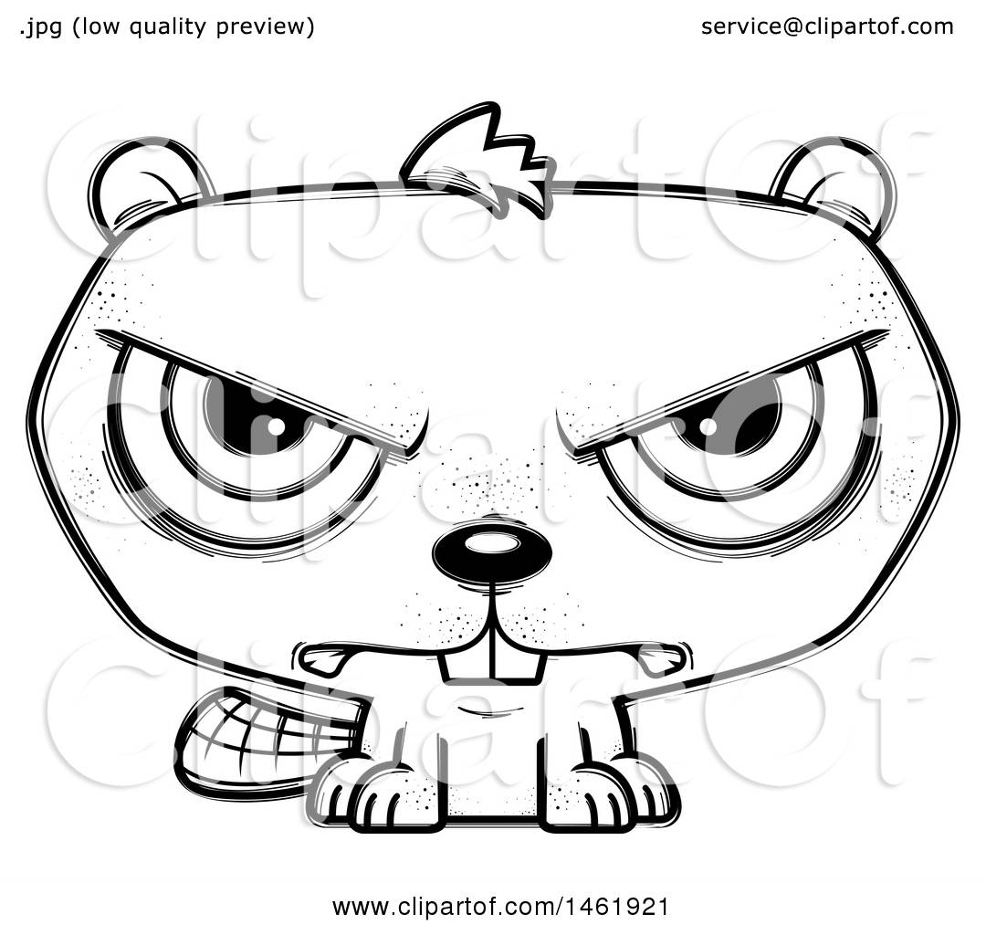 Beaver clipart head. Mad pencil and in