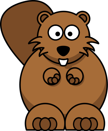 Cartoon . Beaver clipart head