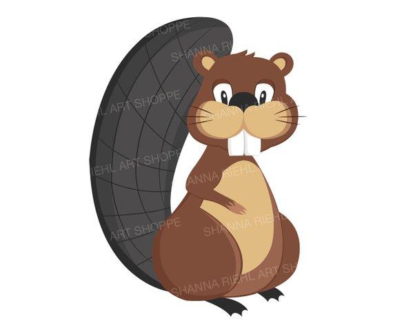 Woodland clipart beaver. Friends vector clip art