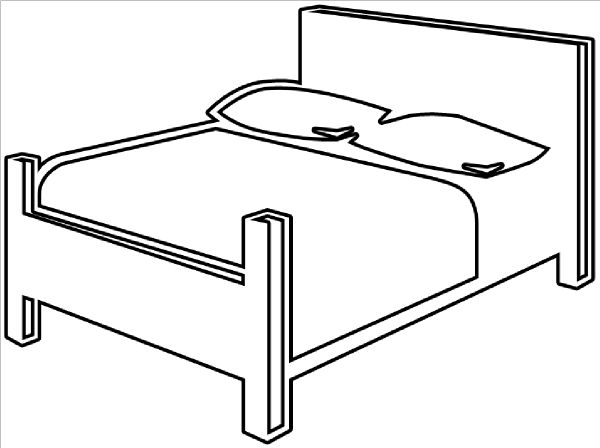Station. Bed clipart black and white
