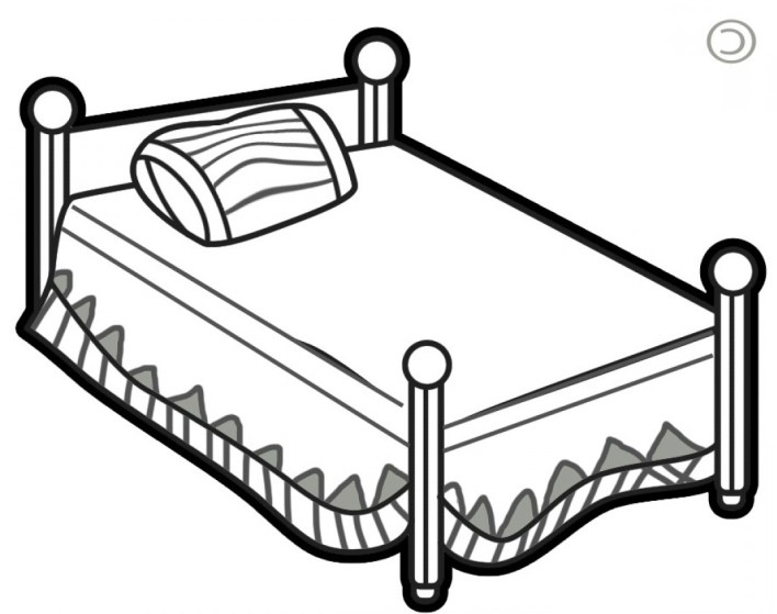 Bed clipart black and white. Bedroom www cintronbeveragegroup com