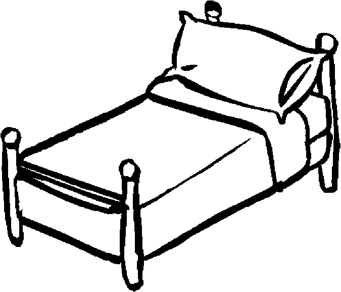 Bed clipart black and white. Clip art images