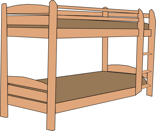 . Bed clipart bunk bed