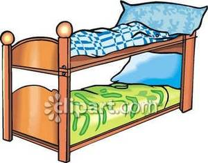 Bed clipart bunk bed. A set of beds