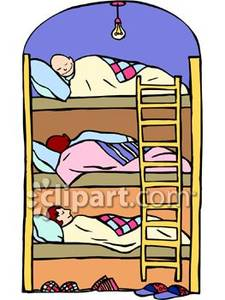 Bed clipart bunk bed. People sleeping in beds