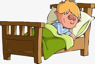 Go to color sleeping. Bed clipart cartoon