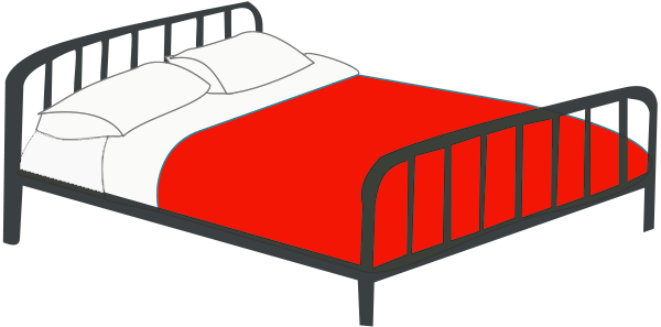 Free bed clip art. Quilt clipart double room