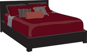 Cartoon clip art dromgbg. Furniture clipart bed
