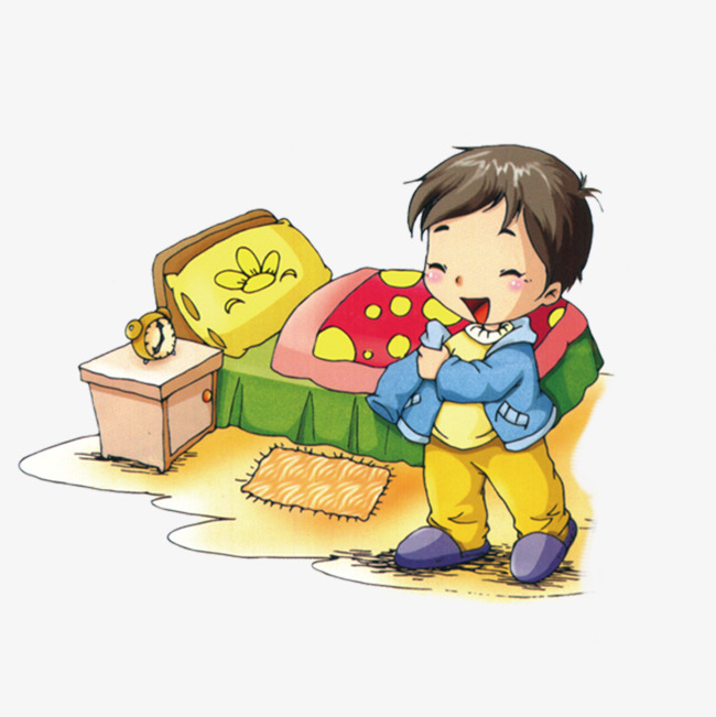 Get up kids png. Bed clipart child bed