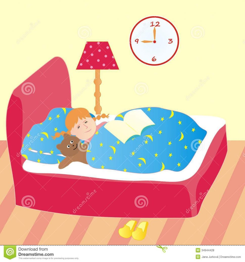 Going to group bedroom. Bed clipart children's