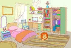 Kids room furniture kid. Bed clipart children's