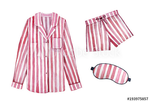 Pajamas clipart drawing. Sleeping outfit kit classic