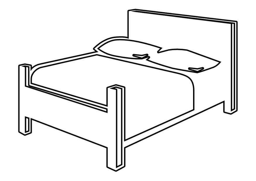 Page double img download. Bed clipart coloring