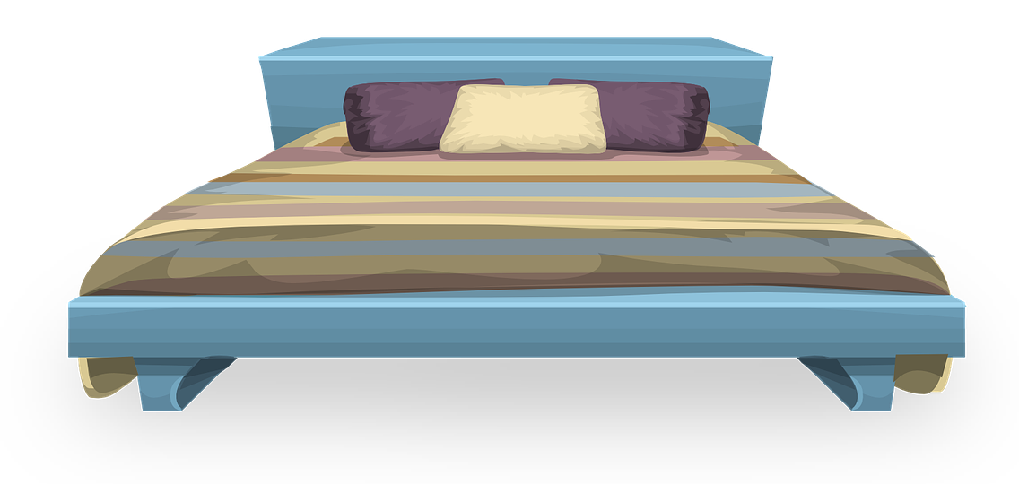 Clipart bed modern bed. Couple on