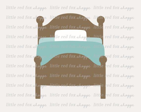 Clipart bed cute. Bedroom clip art sheets