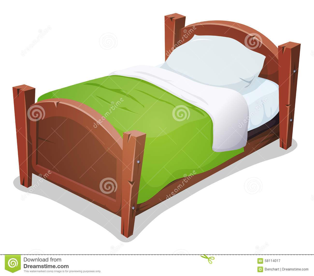 Blanket pencil and in. Bed clipart cute