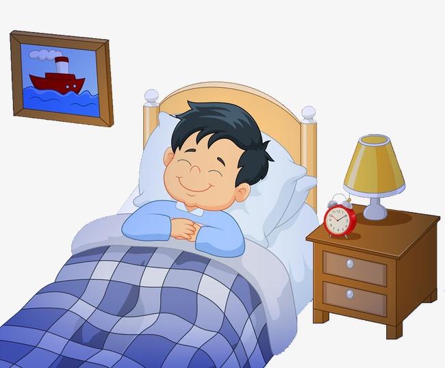 Bed clipart cute. Boy go to sleep