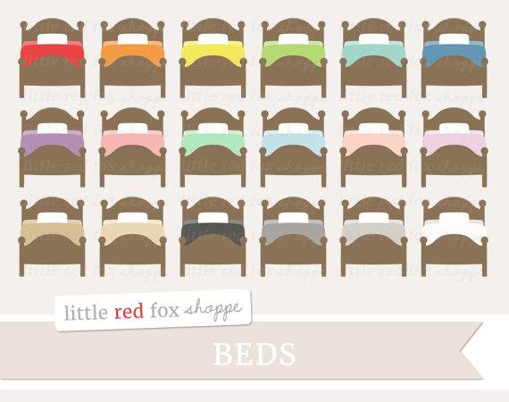 Bed clipart cute. Bedroom clip art sheets