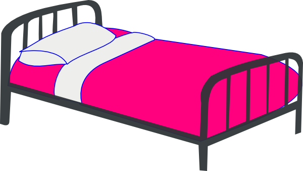 Bed clipart double bed.  clip art clipartlook
