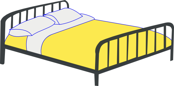Clip art old . Bed clipart double bed