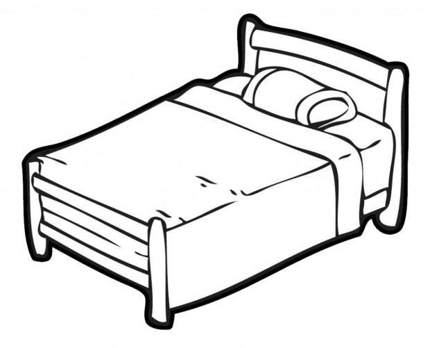 Bed clipart drawing. Bedroom line at getdrawings