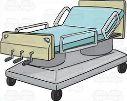 Bed clipart green bed. Free hospital
