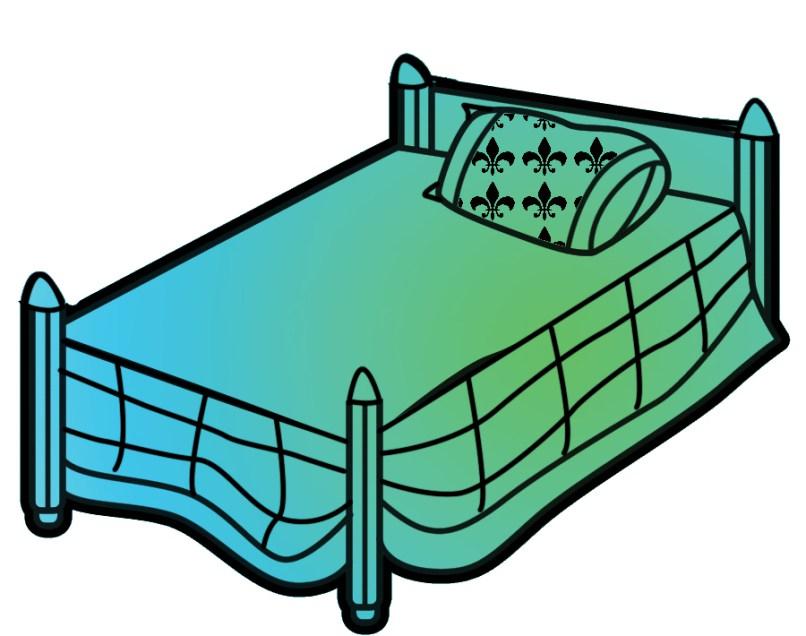 Bedroom free ayathebook com. Bed clipart green bed