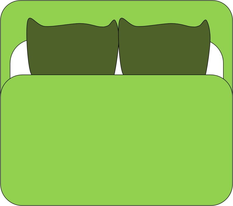 Top images photos free. Bed clipart green bed