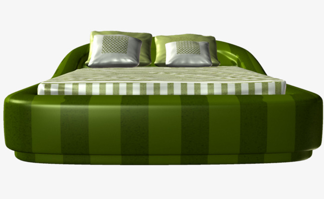 Bed clipart green bed. Cartoon practical png image