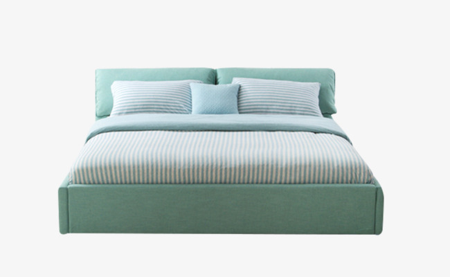 Bed clipart green bed. European mint double nordic