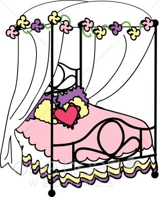 Bed clipart honeymoon. Nuptial