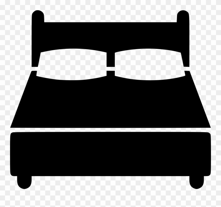 Svg double png transparent. Clipart bed icon