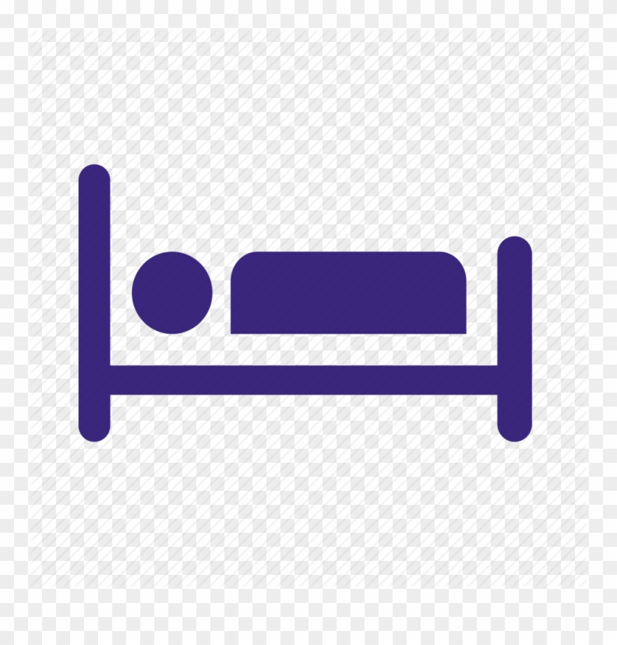 Hospital sick pinclipart . Clipart bed icon