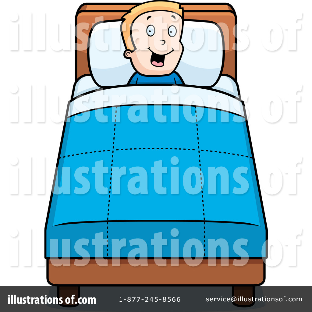 Time by cory thoman. Bed clipart illustration