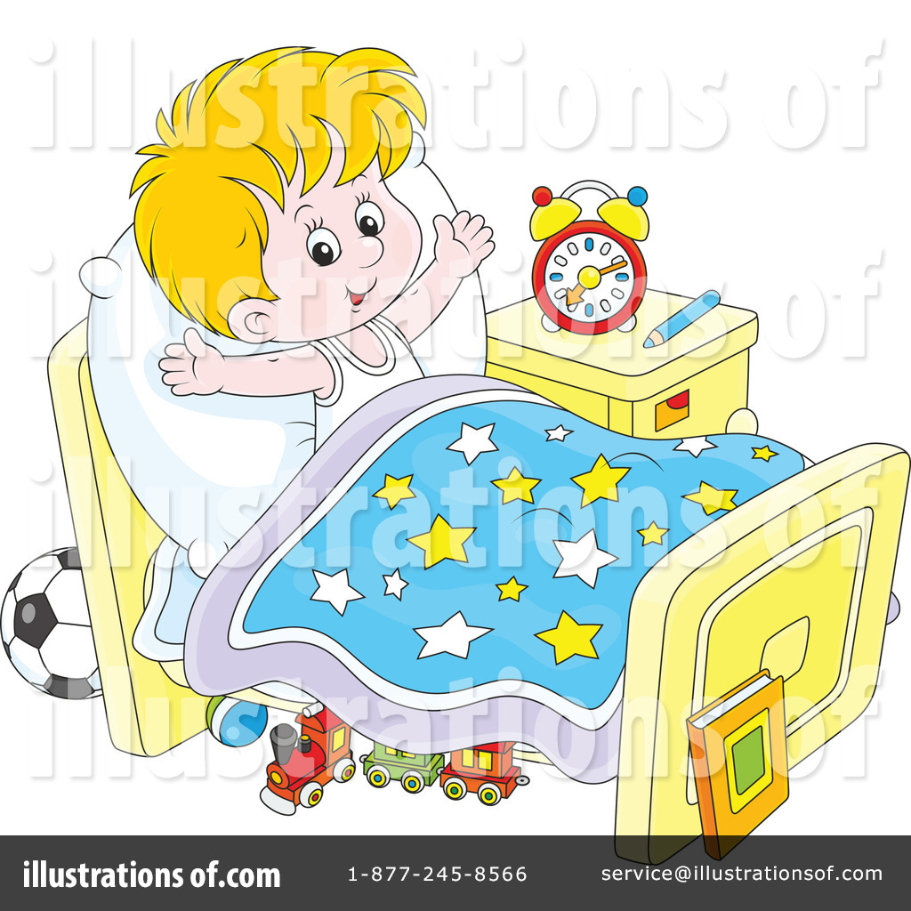 Bed clipart illustration. Time by alex bannykh
