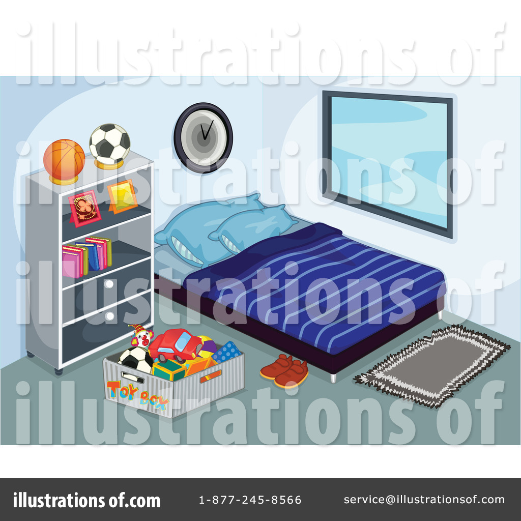 Bed clipart illustration. Bedroom by graphics rf
