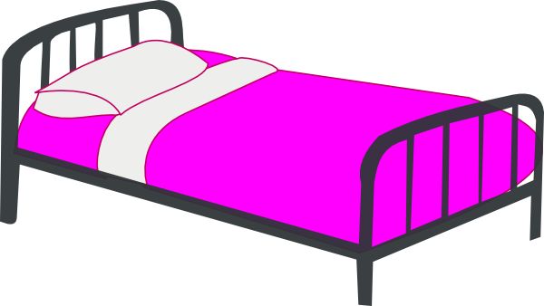 Clip art at clker. Girly clipart bed