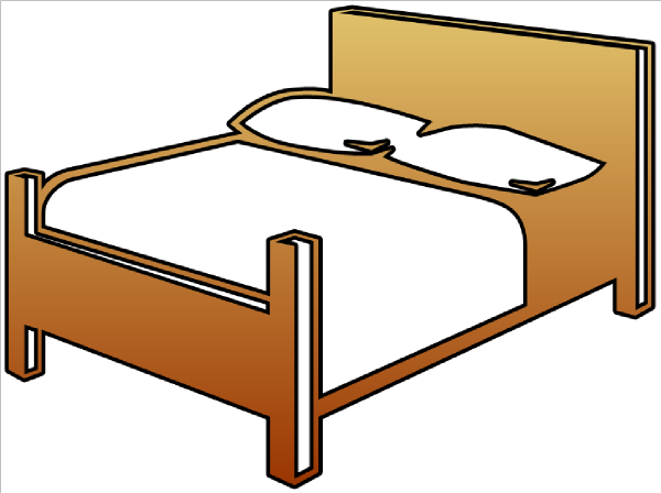 Furniture clipart bed. Cutout clip art at