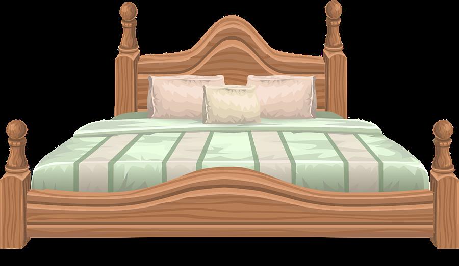 Free large elegant clip. Quilt clipart double bed
