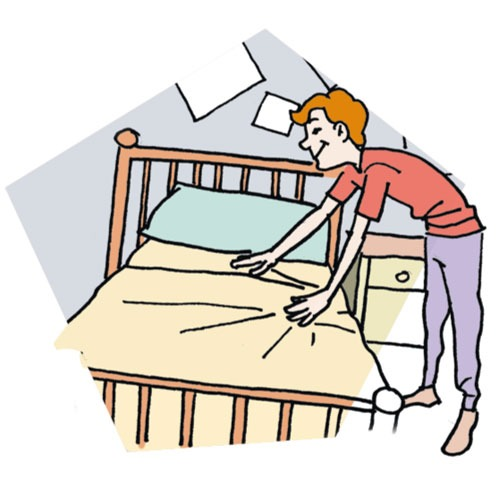 Clip make inspirational of. Bed clipart line art