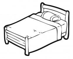 Bed clipart line art. Clip bedroom avenue of
