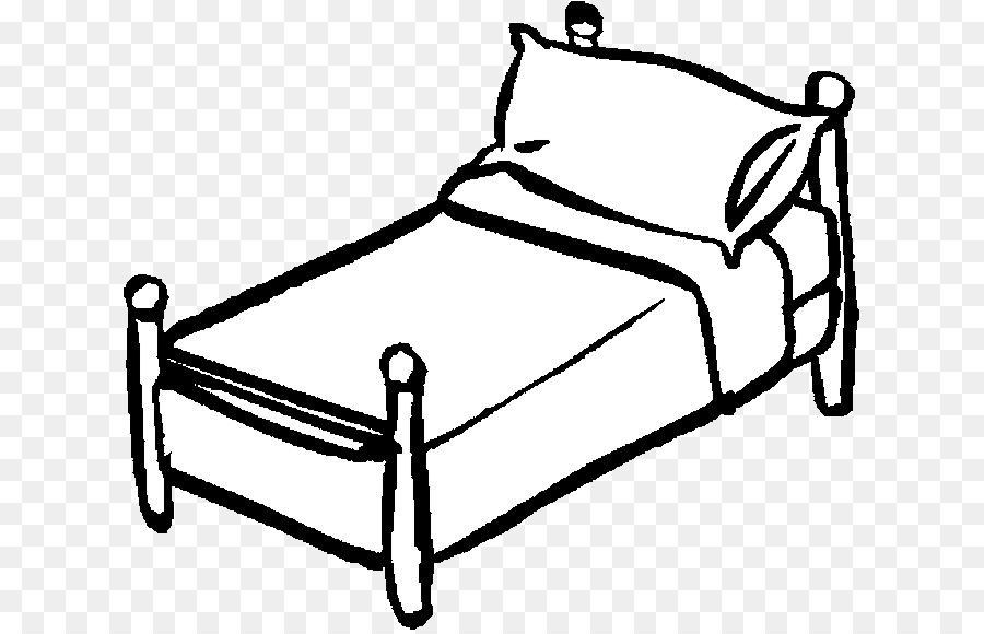 Book black and white. Bed clipart line art