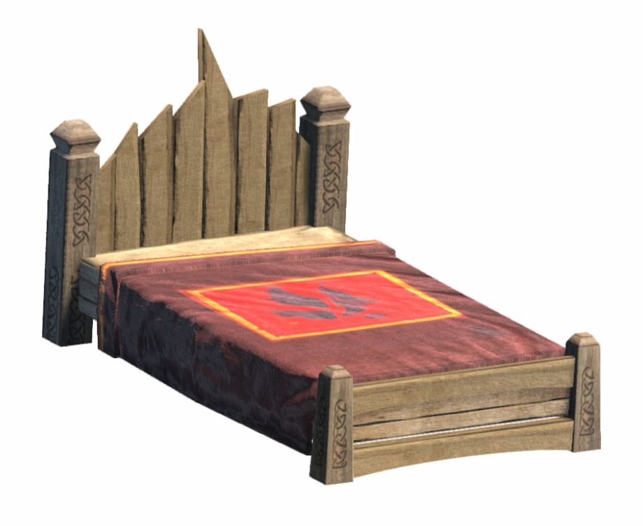Noble bed free png. Bedroom clipart medieval