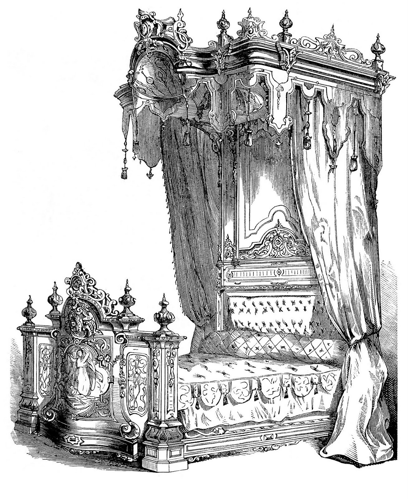 Bedroom clipart medieval. Fancy pencil and in
