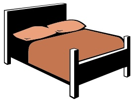 Clip art library . Bed clipart queen bed