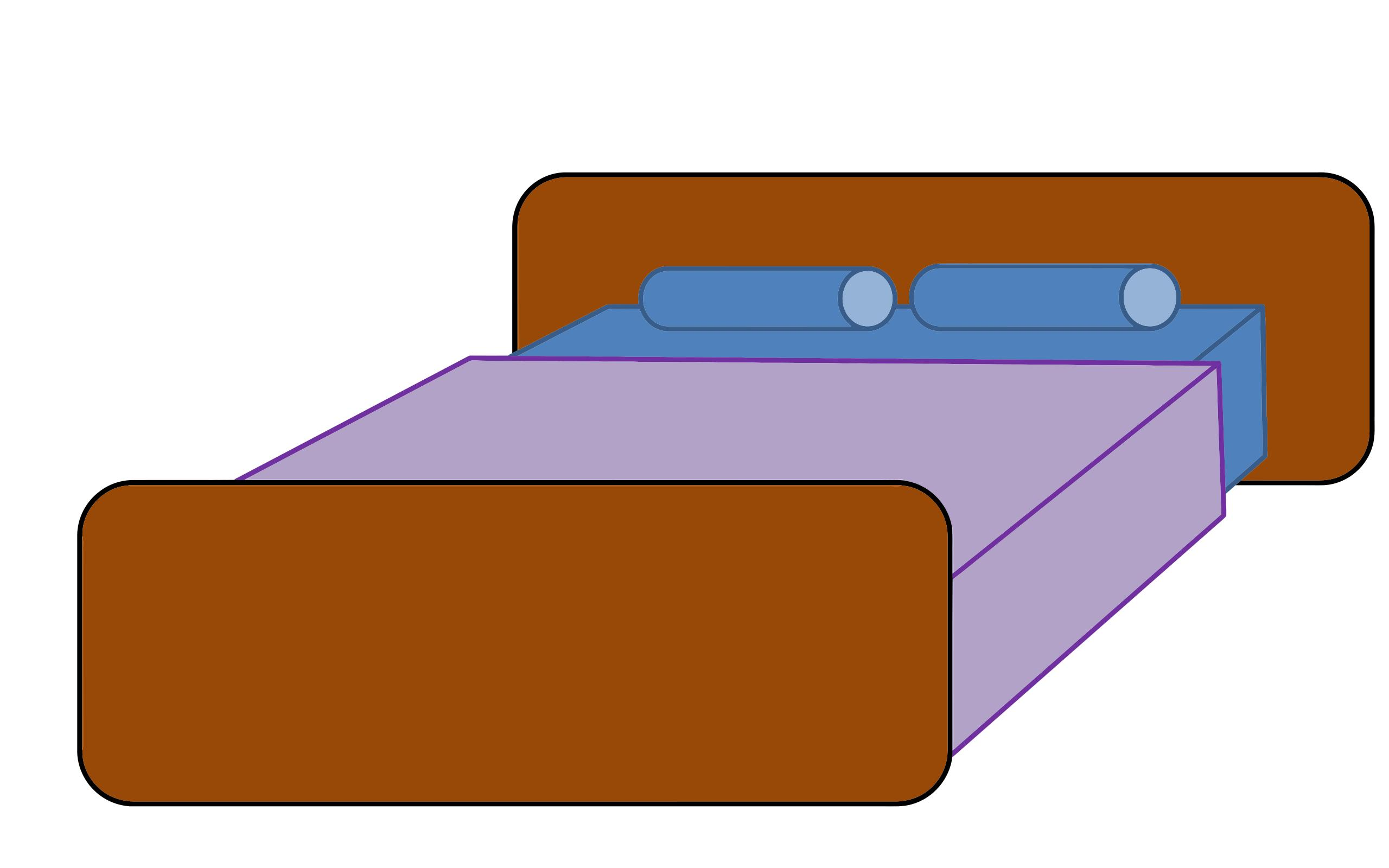 Modern design droide. Bed clipart rectangle